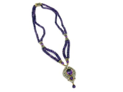 Amethyst Jewellery/Regal Amethyst Necklace 1 Cynthia Findlay Antiques