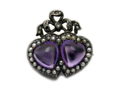Amethyst Jewellery/Victorian Amethyst Brooch 1 Cynthia Findlay Antiques