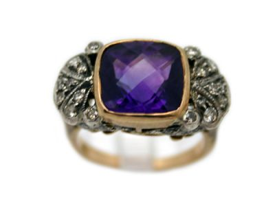 Amethyst Jewellery/Vintage-Style Amethyst Ring 1 Cynthia Findlay Antiques