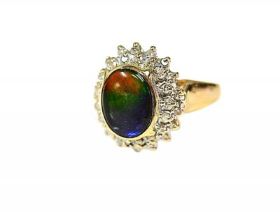 Ammolite Diamond Ring CFA1408130 78525aaabb
