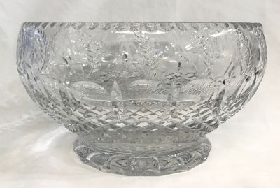 Anglo-Irish Cut Crystal CentrepiecePunch Bowl c