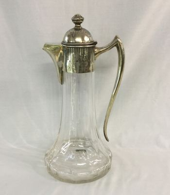 Antique-Claret-Jug-with-800-Fine-Silver-Gilt-Mounts-Austro-Hungarian-1