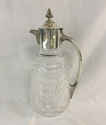 Antique-Claret-Jug-with-Sterling-Silver-Mounts