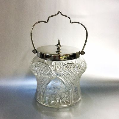Antique-Cut-and-Etched-Glass-Biscuit-Barrel-with-EPNS-Mounts a