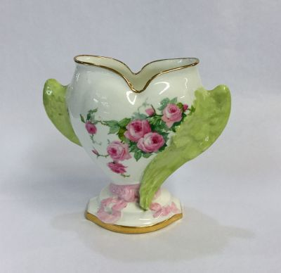 Antique-Mintons-Hand-Painted-Heart-with-Wings-Porcelain-Vase-1