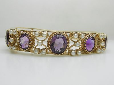 Antique Amethyst Bracelet agl45340