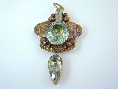 Antique Aquamarine Pendant CFA140626