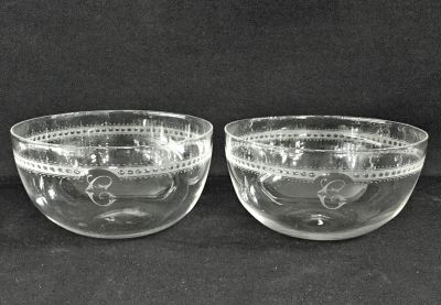 Antique Crystal Finger Bowls