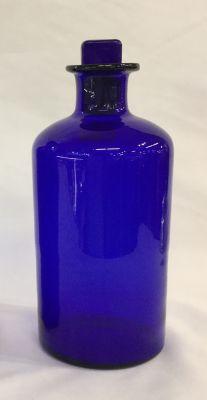 Antique English Bristol Blue Apothecary Bottle