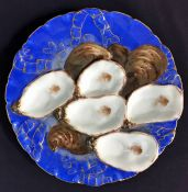 Antique French Porcelain Limoges Oyster Plate