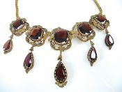 Antique Garnet Fringe Necklace