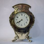 Antique Irish Silver Plate Mantle Clock