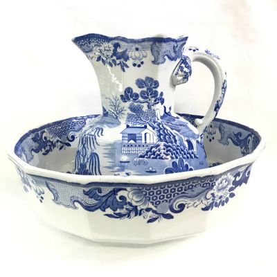 Antique Masons Ironstone Pitcher   Basin 6