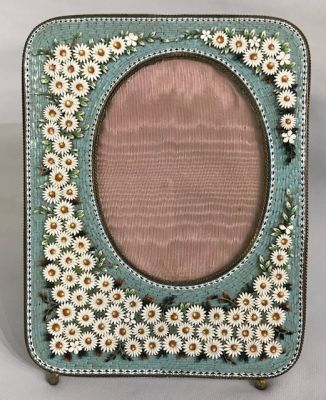 Antique Micro Mosaic Picture Frame  Made In Italy  3