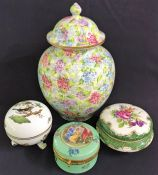 Antique Porcelain Boxes and Jars