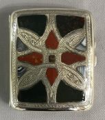 Antique Scottish Pebble Hardstone Cigarette Case