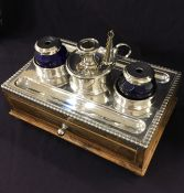 Antique Silver Plate Inkwell