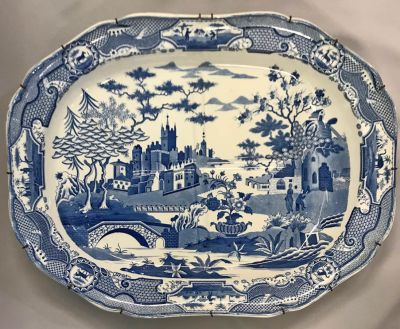 Antique Spode Blue & White Transfer Ware