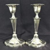 Antique Sterling Silver Candlesticks With Removable Bobeches
