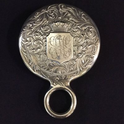 Antique Victorian Sterling Silver Hand Mirror