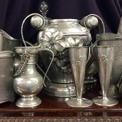 Antique   Vintage Pewter Items