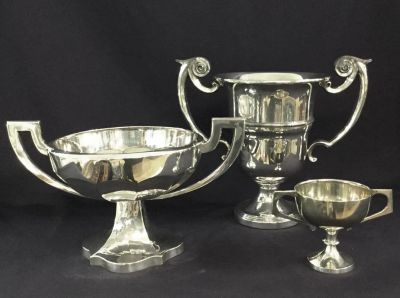 Antique and Vintage silver plate Trophies
