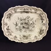Antique Transfer Ware Platter