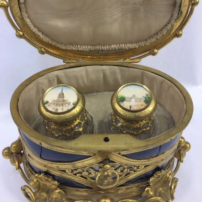 Antique french perfume casket box 5