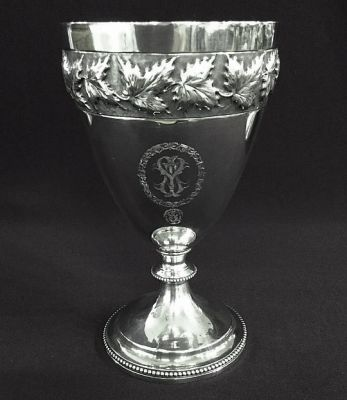 Antique sterling Silver Chalice 4