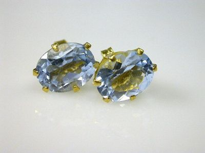 Aquamarine Studs Cynthia Findlay Antiques CFA1111202