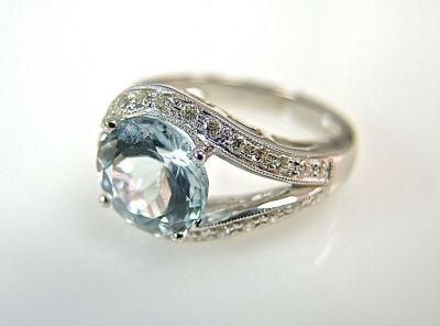 Aquamarine and Diamond Ring CFA1405236