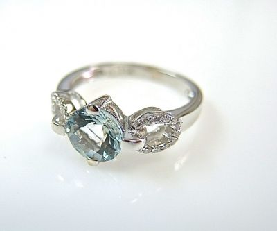 Aquamarine and diamond ring CFA1405233