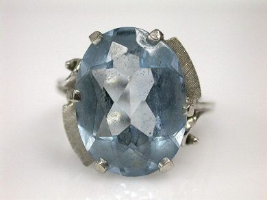 Aquamarines /Spinel Solitaire Cynthia Findlay Antiques CFA120867