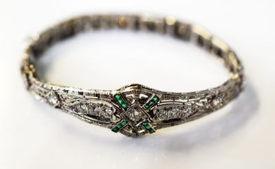Art-Deco-Diamond-and-Emerald-Bracelet-CFA1709167-84084