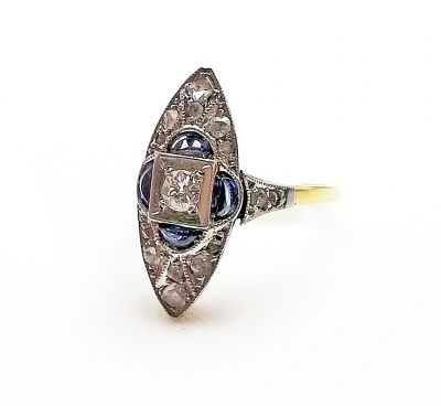 Art-Deco-Diamond-and-Synthetic-Sapphire-Ring-CFA170918-83956a