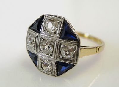 Art-Deco-Diamond-and-Synthetic-Sapphire-Ring-CFA1801151-84563a