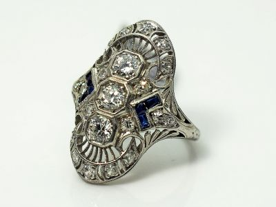 Art-Deco-Diamond-and-Synthetic-Sapphire-Ring-CFA180396-84813a