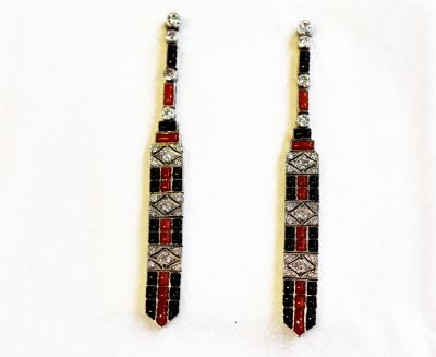 Art-Deco-Inspired-Diamond-Black-Onyx-Coral-Earrings-CFA1304286-83415