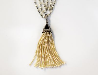 Art-Deco-Pearl-Necklace-with-Black-Onyx-Diamond-Pearl-Pendant-CFA1801116-84648a
