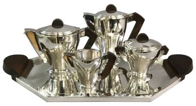 Art Deco 4 Piece Tea Set & Matching Tray