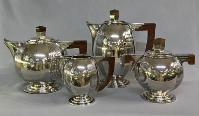 Art Deco 4 Piece Tea & Coffee Set