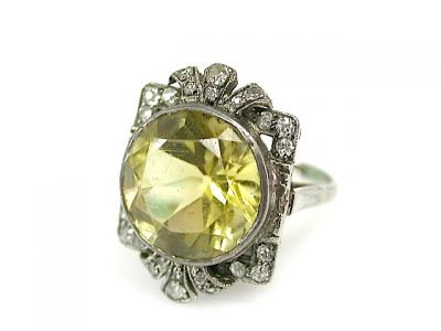 Art Deco Citrine Ring CFA1306159