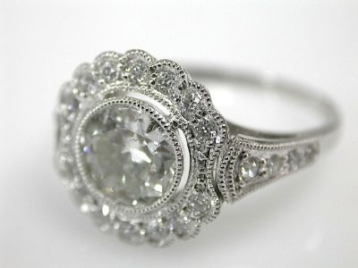 Art Deco Diamond Halo Ring CFA1310241