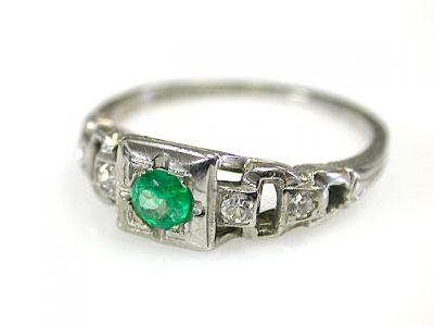 Art Deco Emerald Ring CFA1311207