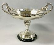 Art Deco Ercuis Silver Plate Two Handled Comport, French, circa 1930