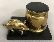 Art Deco Figural Pig Inkwell