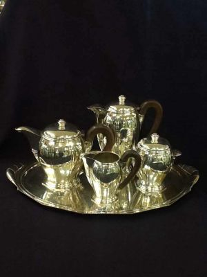 Art Deco French Silver-plated Tea and Coffee Set