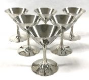 Art Deco Japanese Sterling Silver Cocktail Glasses, Circa 1925-30