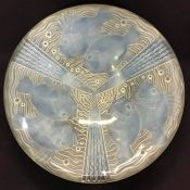 Art Deco Opalescent Glass Bowl, Designed By Pierre D'Avesn