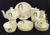 "Art Deco Royal Doulton Tea Set in the ""Eden"" Pattern"